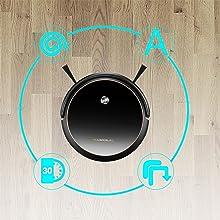 Robot Aspirador con mapeo y App y Alexa, navegación Gyro, 6 Modos de Limpieza con Muro magnético,1200pa MAX succión, Tranquilo, Auto-Carga, Ideal para ...