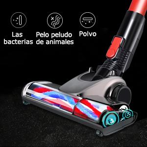 Transferencia de aluminio resistente, cepillo de fibra suave para proteger eficazmente la alfombra. Limpieza profunda, limpia eficazmente el cabello, ...