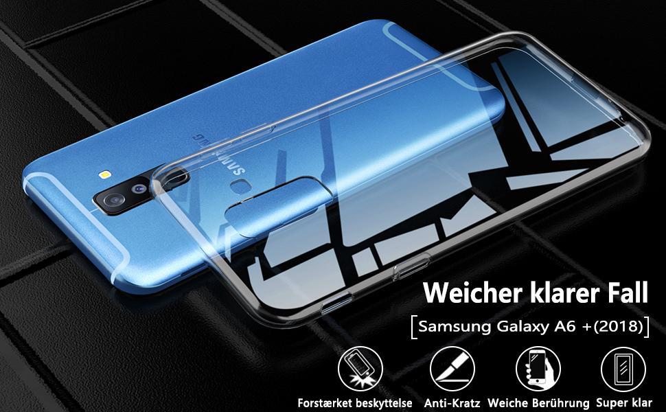 Peakally Funda Samsung Galaxy A6 Plus / A6+ 2018,Carcasa ...