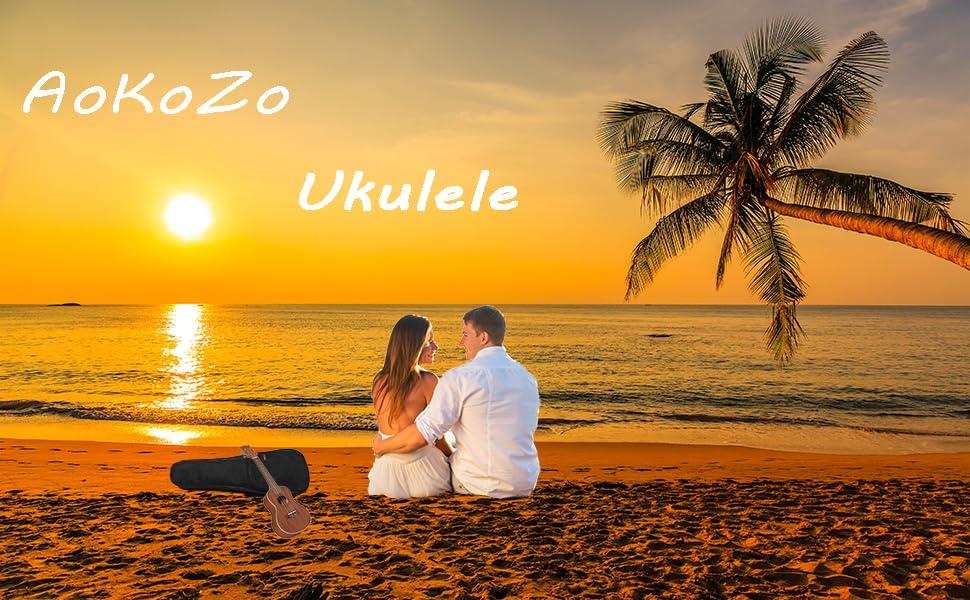 Ukelele Concierto,AoKoZo Ukulele 23 Pulgadas Hawaiian Ukelele ...