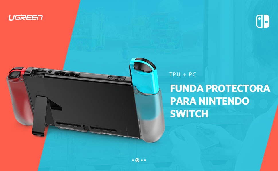 UGREEN Carcasa para Nintendo Switch, Funda Protectora Suave TPU + PC Absorción de Golpes, Case Anti Arañazo para Nintendo Switch Consola y Joy Con: Amazon.es: Electrónica