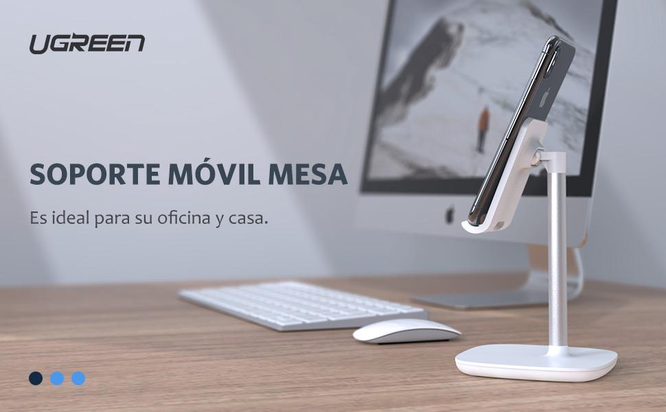 UGREEN Soporte Móvil Mesa, Soporte Teléfono Ajustable para iPhone ...
