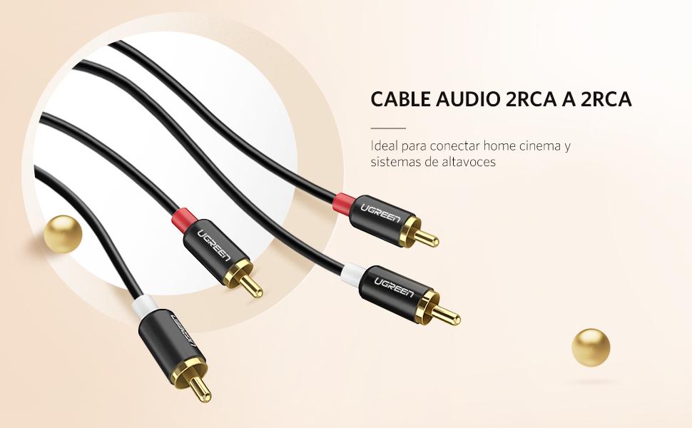 Cable RCA a RCA, Ugreen Cable de Audio 2 RCA Macho a Macho para ...