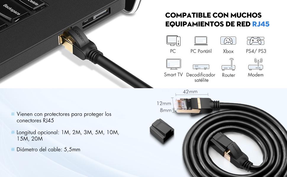 Con este cable Ethernet CAT 7 que se prueba para ajustarse a todas las especificaciones TIA/EIA-568B, cuando se suba la fibra de velocidad ...