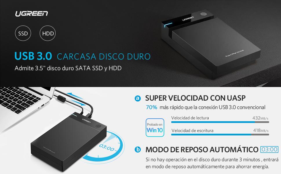 UGREEN Carcasa Disco Duro 3.5