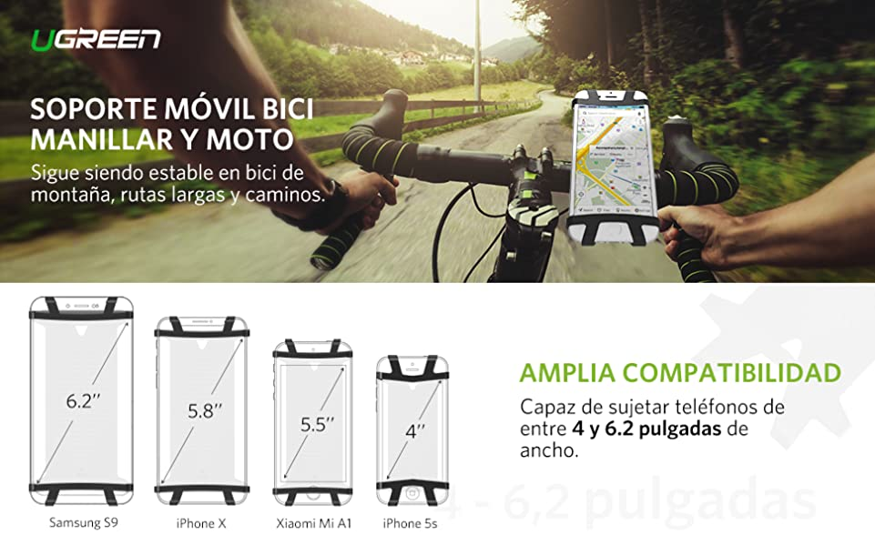UGREEN Soporte Móvil Bici, Soporte Movil Bicicleta Montaña Moto ...
