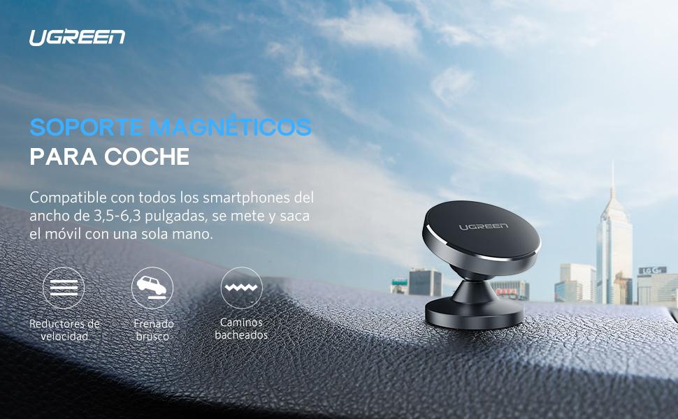 UGREEN Soporte Magnéticos para Coche, Soporte Móvil de Coche con Base de Adhesivo 3M, Car Mount Universal Giratorio de 360 Grados para Xiaomi Mi A3 ...