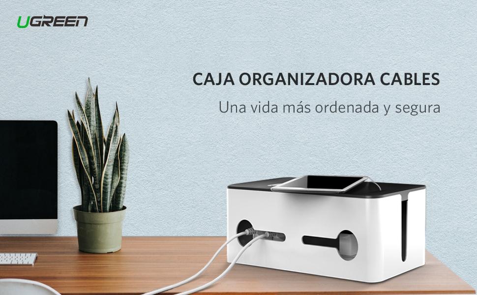 UGREEN Caja Organizadora Cables, Caja para Almacenaje de Cables ...