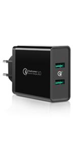 Cargador Móvil Rápido, UGREEN Cargador QC 3.0 2 Puertos USB ...