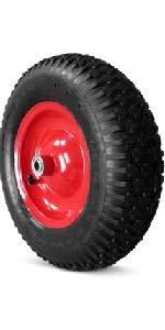 ... rueda de goma negro con llanta de acero rojo rueda para carretilla