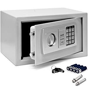 Deuba Caja Fuerte Seguridad Safe Plata Cierre electrónico 20 x 31 ...