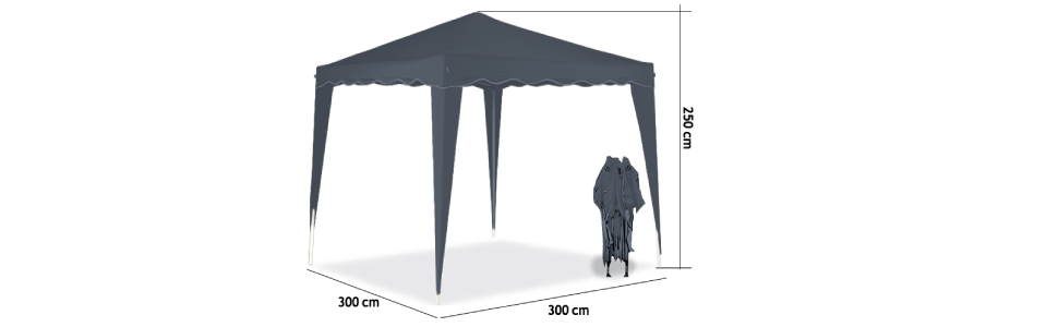 Deuba Pabellon de Jardin cenador Capri Verde 3x3 m Carpa Plegable ...