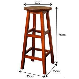 Deuba 2x taburetes de bar marr nes altos de madera de - Taburete barra cocina ...