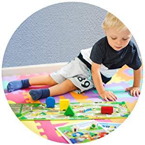Deuba Alfombra Puzzle para niños Bebe 86 Piezas 26 Letras y números Espuma Alfombrilla de Juego Infantil 32 x 32 cm Goma: Amazon.es: Juguetes y juegos