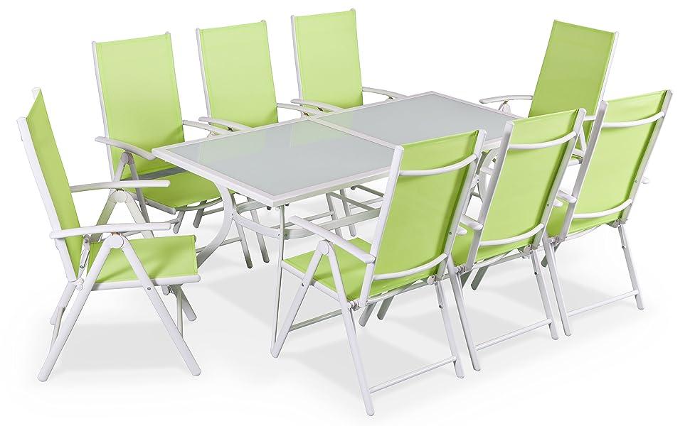 Alices Garden - Comedor de Jardin, Conjunto de Mesa y sillas de ...