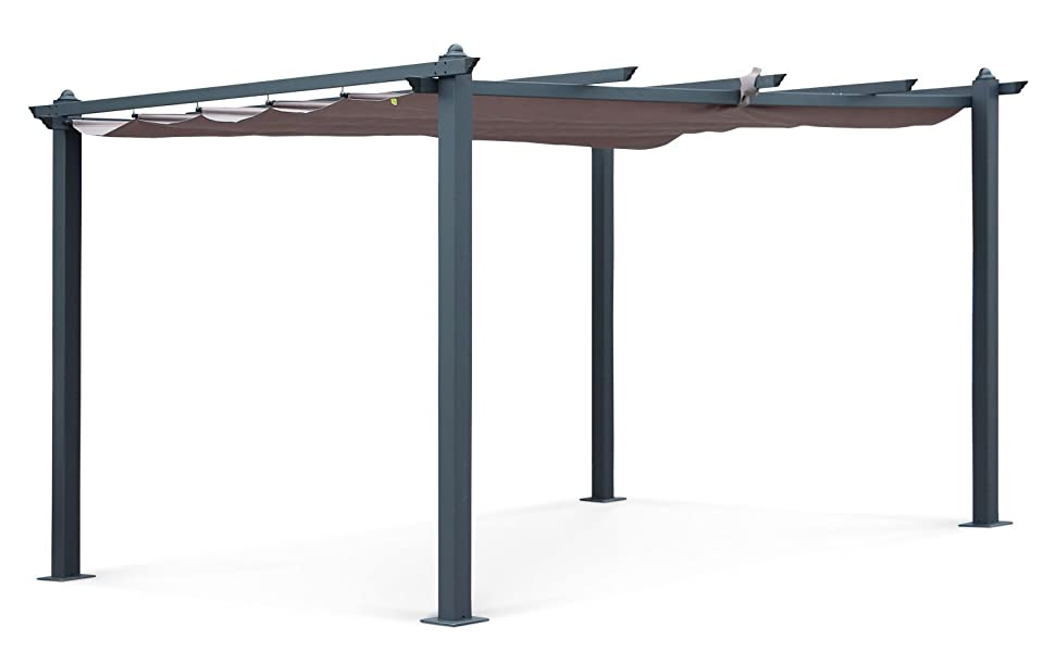 Alices Garden - Pergola, Aluminio, Marrón, 3x4 m: Amazon.es: Jardín