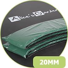 Alices Garden - Cama elástica Verde, Trampolín de 245 cm. Incluye ...