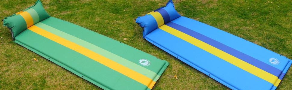 Viajes Playa 190 x 68 x 3.5 cm Colchoneta de Camping con Bolsa para Camping Senderismo Mochilero EKKONG Esterillas Autoinflables