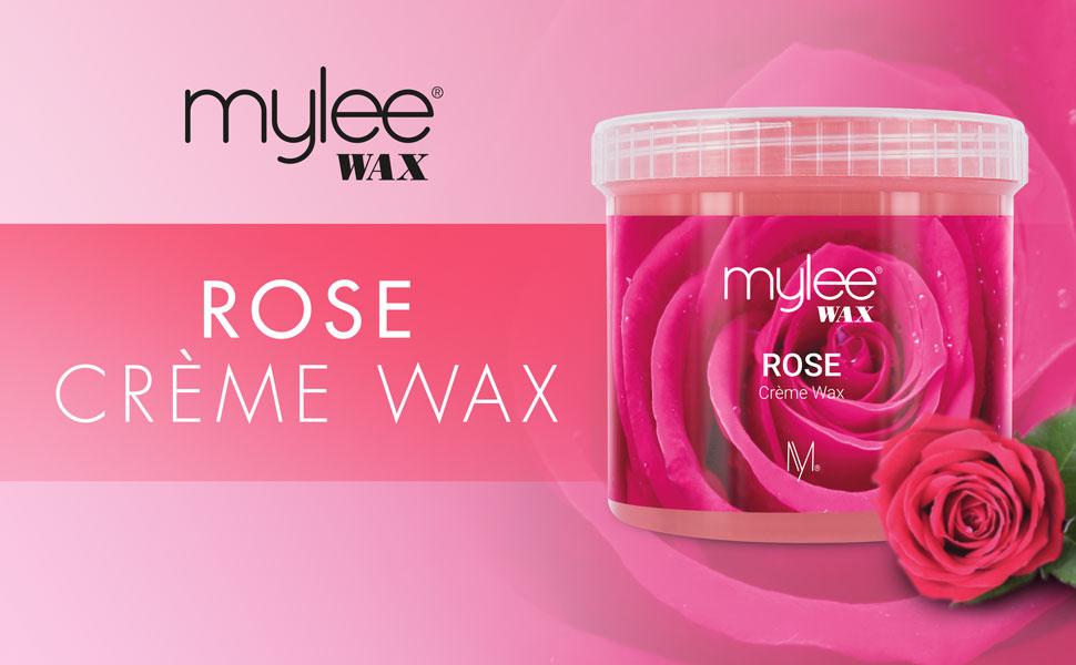 Mylee Cera De Rosa Suave en Crema para Pieles Sensibles 425g, Pote de Crema Depilatoria para Eliminar Vello, Ideal para Cuerpo, Se Puede Calentar en ...