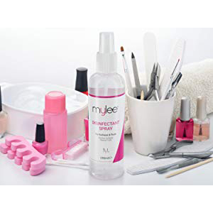 Mylee Spray Antiséptico Desinfectante 250ml, para Limpiar Superficies de Salones de Belleza, Herramientas y Equipos de Manicura y Pedicura, Limpiador ...