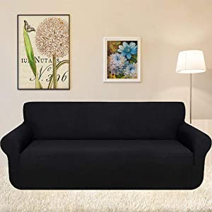 KOBWA Funda de sofá, 3 Plazas Cubiertas de sofá Slipcover de sofá Protector de Muebles Resistencia al Deslizamiento Super Stretch Resistente al ...