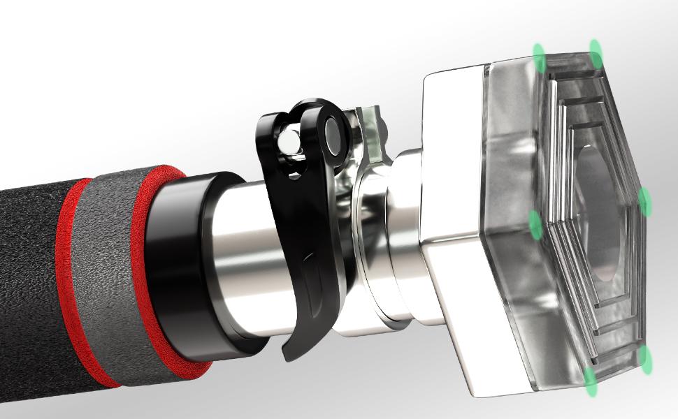 Sportstech KS200 Barra dominadas Puerta con Sistema Hexagonal Patentado. Palanca tensora de Seguridad, 6 Puntos de presión. Carga máxima 300kg. ...