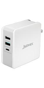 JYDMIX USB C Cargador, 2 Puertos USB Cargador de Escritorio ...