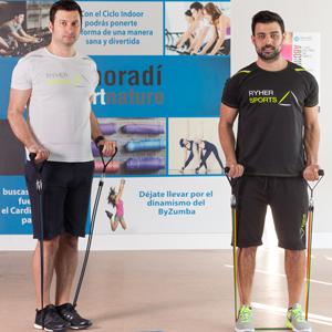 Empresa española fabricante de gomas elasticas musculacion - Kit de cuerdas elasticas de fitness con 5 bandas resistencia y accesorios - Elasticos ...