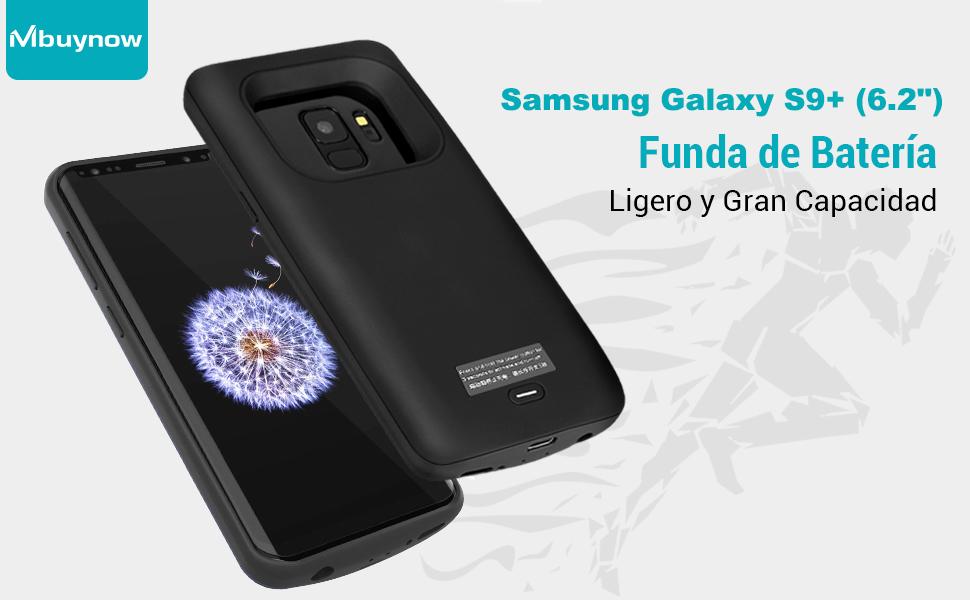 Samsung Galaxy S9 Plus Funda Batería, 5200 mAh Recargable Externa Portátil Batería Cargador de Batería Power Bank Alta Capacidad Backup Funda de ...