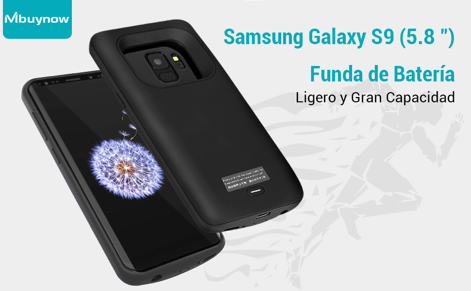 Samsung Galaxy S9 Funda Batería, 4700 mAh Recargable Externa Portátil Batería Cargador de Batería Power Bank Alta Capacidad Backup Funda de Batería ...