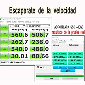 ADROITLARK 2.5 Pulgadas - Disco sólido Interno de 480 GB + Kit de ...