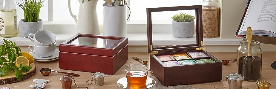 Caja de té Premier Collection de Apace Living Premier