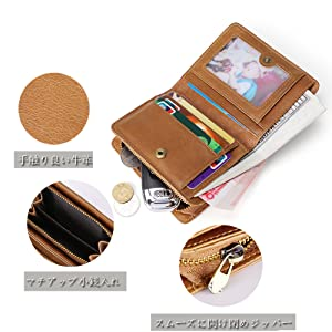 58475fe4c62e Amazon | [Forest antler]メンズ財布 二つ折り 本革 財布 牛革 人気 ...