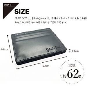 324ecfdb2993 Amazon | 【Jaimie Jacobs】魔法の財布 FLAP BOY Slim マネークリップ ...