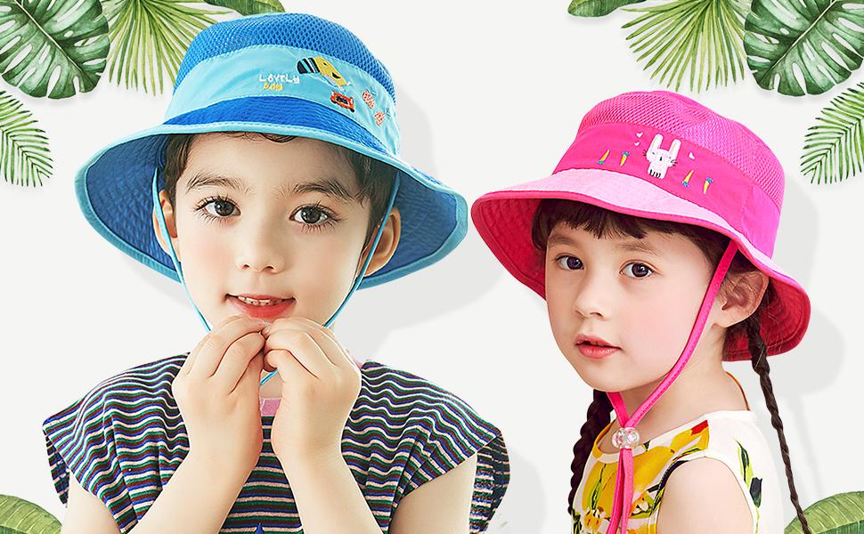 aff94d288d04f Amazon | DORRISO 子供ハット つば広 赤ちゃんキャップ サファリハット ...