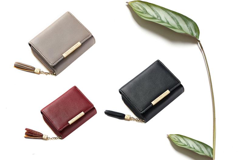 b32bcd492222 xmeng レディース 財布 三つ折り財布 ミニ財布 がま口 小銭入れ カードケース 大容量 多機能 人気 かわいい 女性用