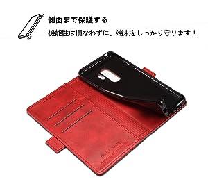83d4f98190 Amazon | Samsung Galaxy S9 Plus ケース 手帳型 高級PUレザー 財布型 革 ...