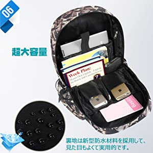 939e63cc9db8 Amazon.co.jp: [ARIALK] リュックサック メンズ リュック USBポート ...
