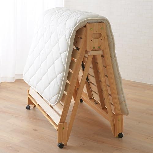 布団を干せる折りたたみベッド