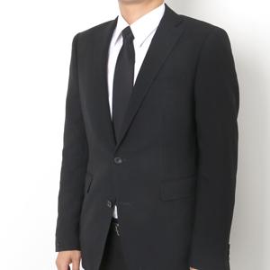 7488841c2ac41 長さを調節してあげるだけの簡単な黒ネクタイで、 ネクタイを結ぶのが苦手な人にもオススメな ファスナー式のワンタッチ ...