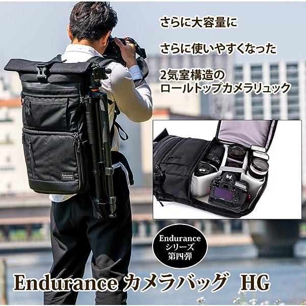 5fe5ad1a45 Amazon   Endurance カメラバッグ HG 2気室構造の大容量ロールトップ ...