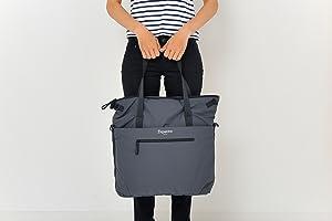 9216f979d2c2 ファスナー開閉のトート、ショルダーの2WAYバッグです。ショルダーは取り外し可能。内外たくさんのポケットがついています。マザーズバッグやジムバッグ に最適です。
