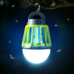 Amazon.co.jp: 電撃殺虫器 UV紫光誘引式 静で安心 蚊取りと照明両用 ...