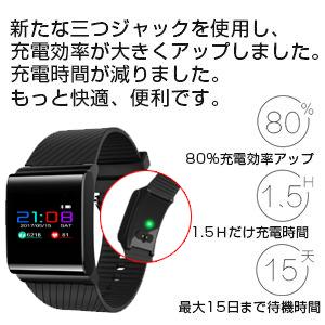 248c80d07a Amazon | FATMOON スマートウォッチ· カラフル 活動量計 心拍計 血圧測定 ...