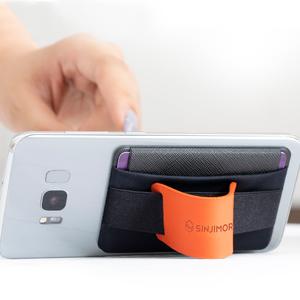 スマホスタンド 携帯スタンド カード入れ カードホルダー カードポーチ カードポケット オレンジ phone grip cell phone strap cards slot sleeve sheet
