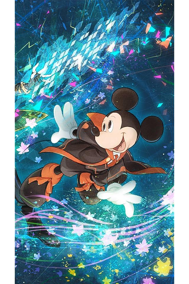 ディズニー 「テクノロジア魔法学校」ミッキーマウス iPhone(640×960)壁紙画像