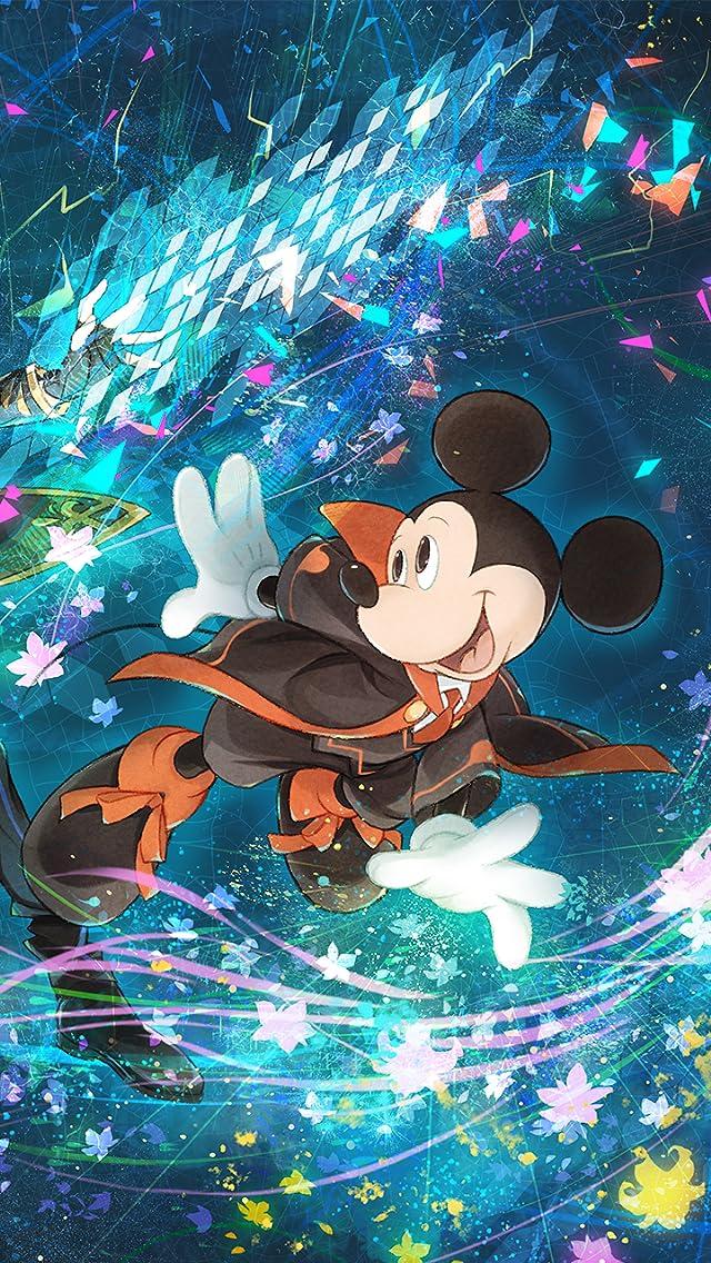ディズニー 「テクノロジア魔法学校」ミッキーマウス iPhoneSE/5s/5c/5(640×1136)壁紙画像