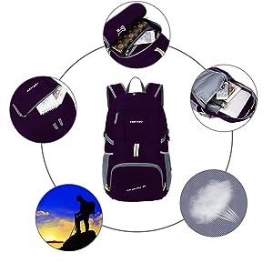 cdb8c6e0c992 Amazon | HEXIN 旅行バック 折りたたみ式 超大容量 2WAY 高品質 ...
