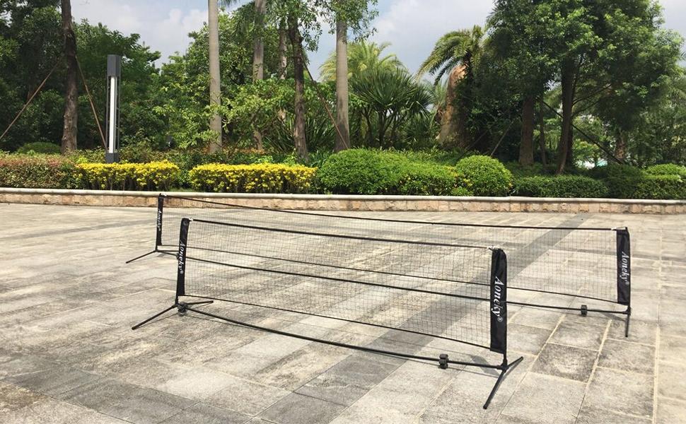 ad3a22142d769c (アワンキー) Aoneky テニスネット キッズ ジュニア 練習用 折り畳み 組立て簡単 収納袋付き 3m