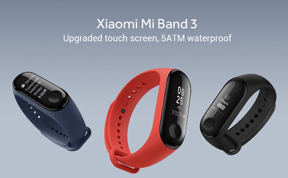 3d3ca1f112 新しいアップグレード済み Xiaomi Mi Band 3- 0.78インチ OELD画面でリリース,5ATM耐水度,長い待機時間